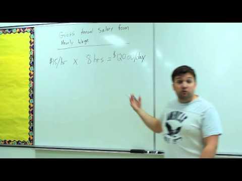 Calculating Gross Annual Salary