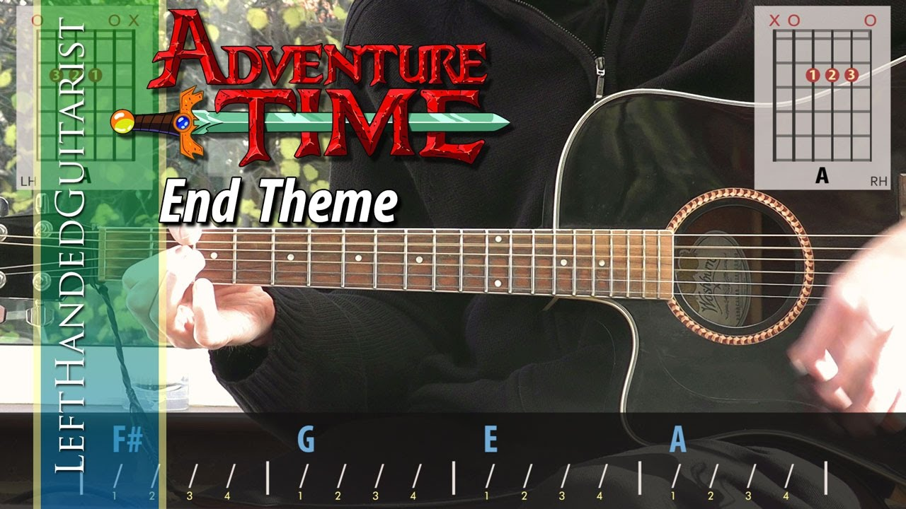 Adventure Time - End Theme | guitar lesson - YouTube