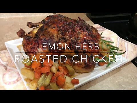 Lemon Herb Roasted Chicken | Sunday Dinner | Thanksgiving 2017