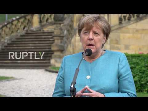 Germany: Merkel talks G20 security alongside Seehofer at CSU event