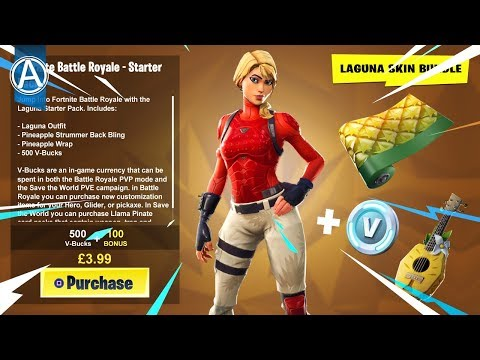"NEW ""LAGUNA SKIN"" STARTER PACK (Fortnite Battle Royale LIVE) thumbnail"