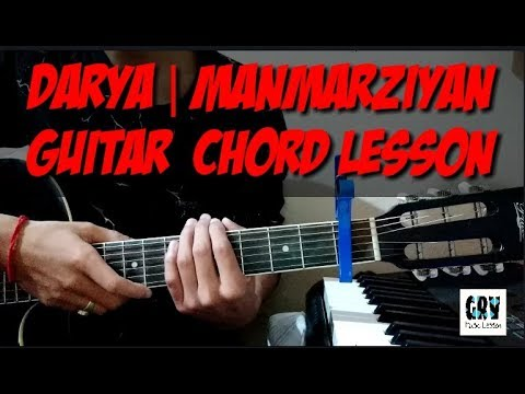 Darya Manmarziyan Guitar Chords Lesson | Amit Trivedi