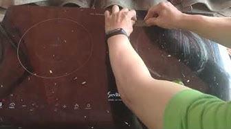 Cách vệ sinh Mặt kính bếp từ, Hồng ngoại bị mỡ bám két lại