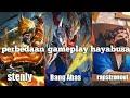 Perbedaan gameplay hayabusa stenly,Bang Abas,rapstronout