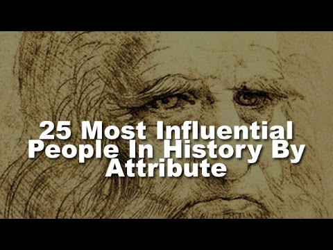 25 Most Influential People in History By Attribute