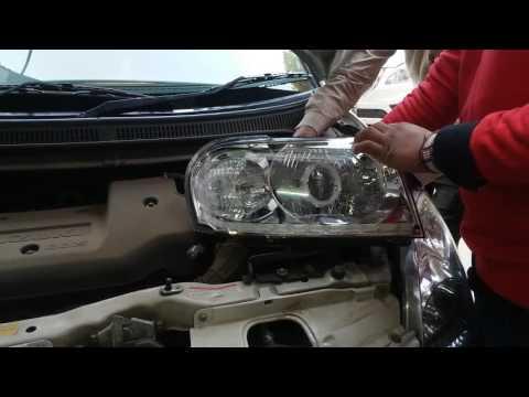 tata safari head lights projector hid  omson mods
