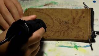 Sea Dragon On Leather (speed Burning / Pyrography)