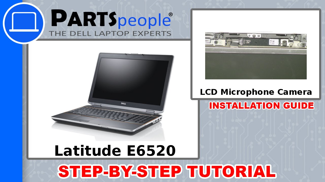 Dell Latitude E6520 (P14F001) LCD Microphone / Camera How-To Video Tutorial