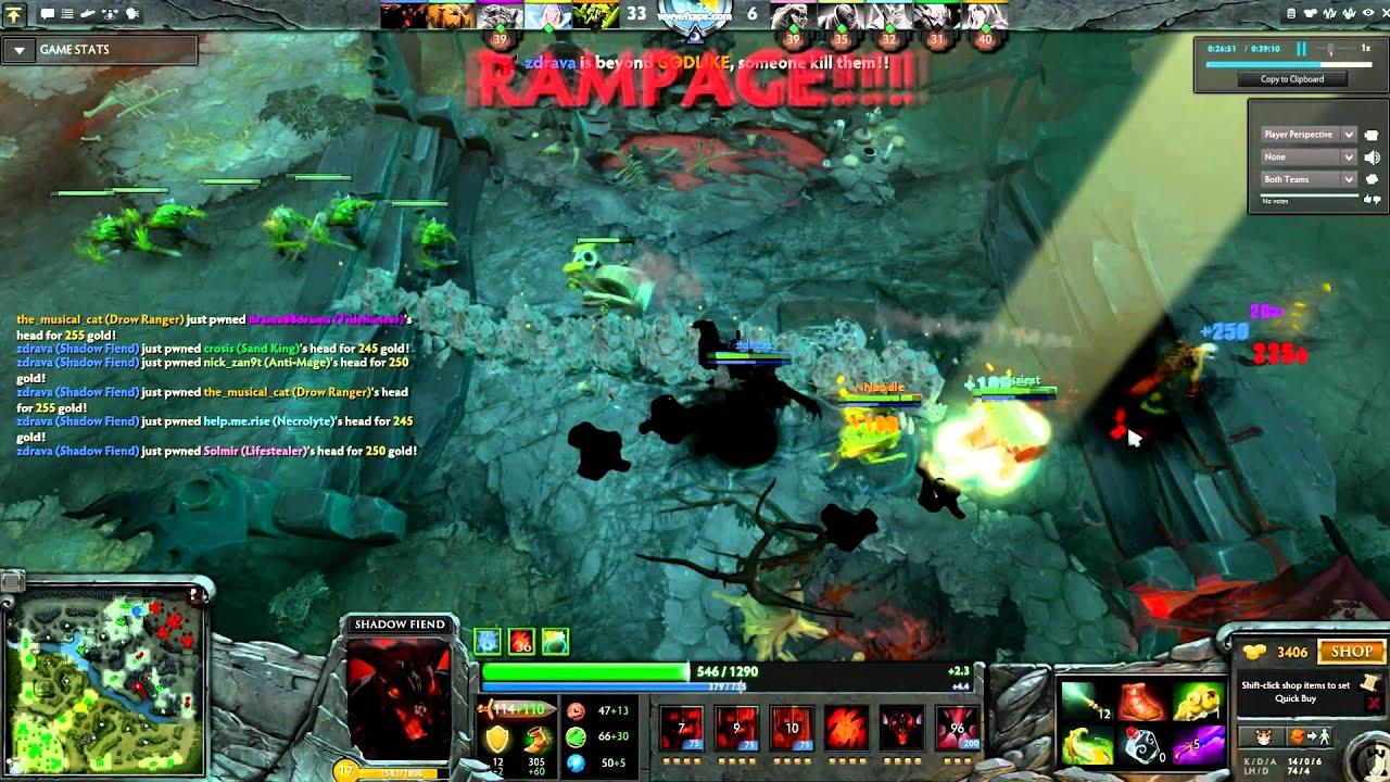 Shadow Fiend Rampage Dota