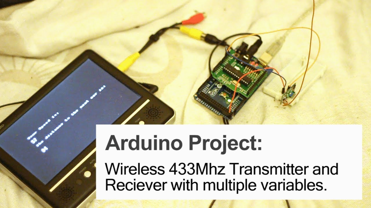 Arduino Project Cheap Wireless 433mhz Transmitter And Receivers Antenna Amplifiers Circuits Projects Youtube