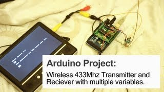 Wireless 433Mhz Transmitter and Receivers by David Watts on YouTube