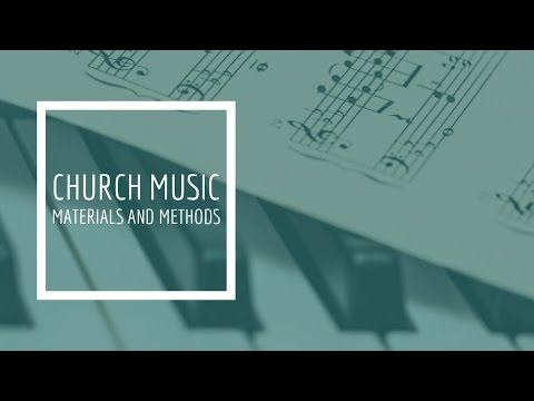 (4) Church Music Materials and Methods - Scheduling the Song Services