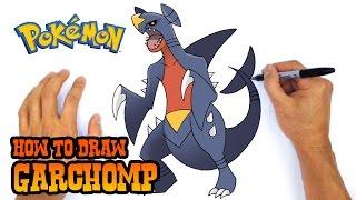 How to Draw Garchomp | Pokemon