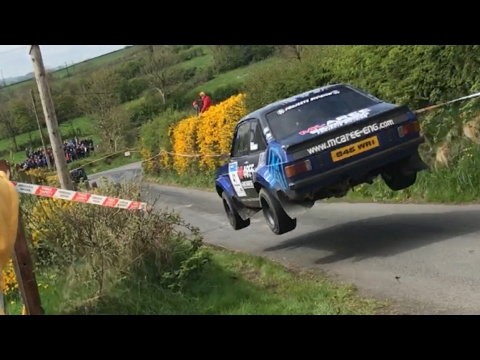 Monaghan Stages Rally 2017 huge jump and spin
