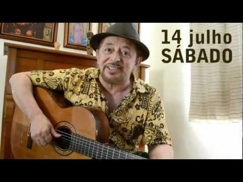 Geraldo Azevedo convida para show do Circo Voador, 14 de julho