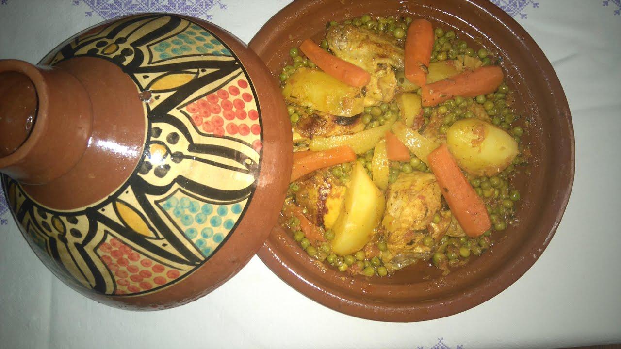 El arte de la cocina árabe - Tajin de pollo con verduras