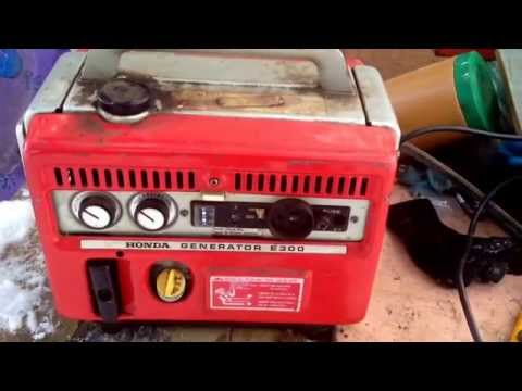 Vintage Honda Genset E300 find and tune up!