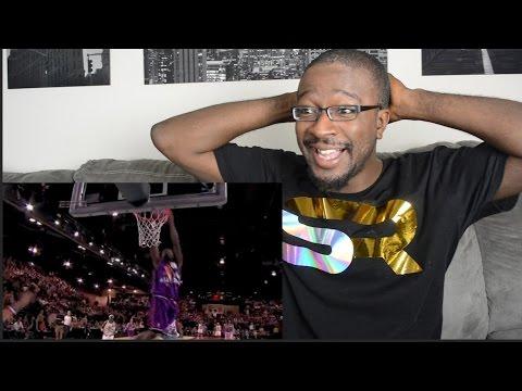 NBA- Top  Celebrity All Star Dunks! REACTION