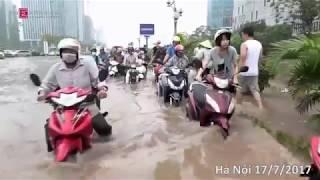 Cảnh Hà Nội ngập lụt ngày 17/7/2017 trên nền nhạc Lụt Từ Ngã Tư Đường Phố-Táo Quân 2009