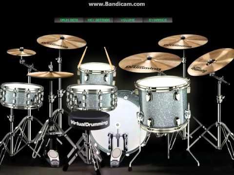 Virtual drum Al Ghazali Lagu Galau...