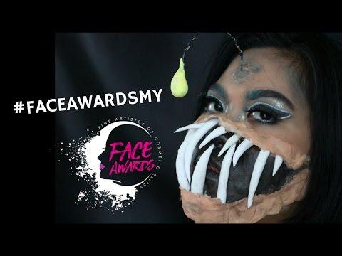 Angler Fish Makeup Tutorial | NYX FACE AWARDS MALAYSIA 2017 | Easy Halloween Makeup