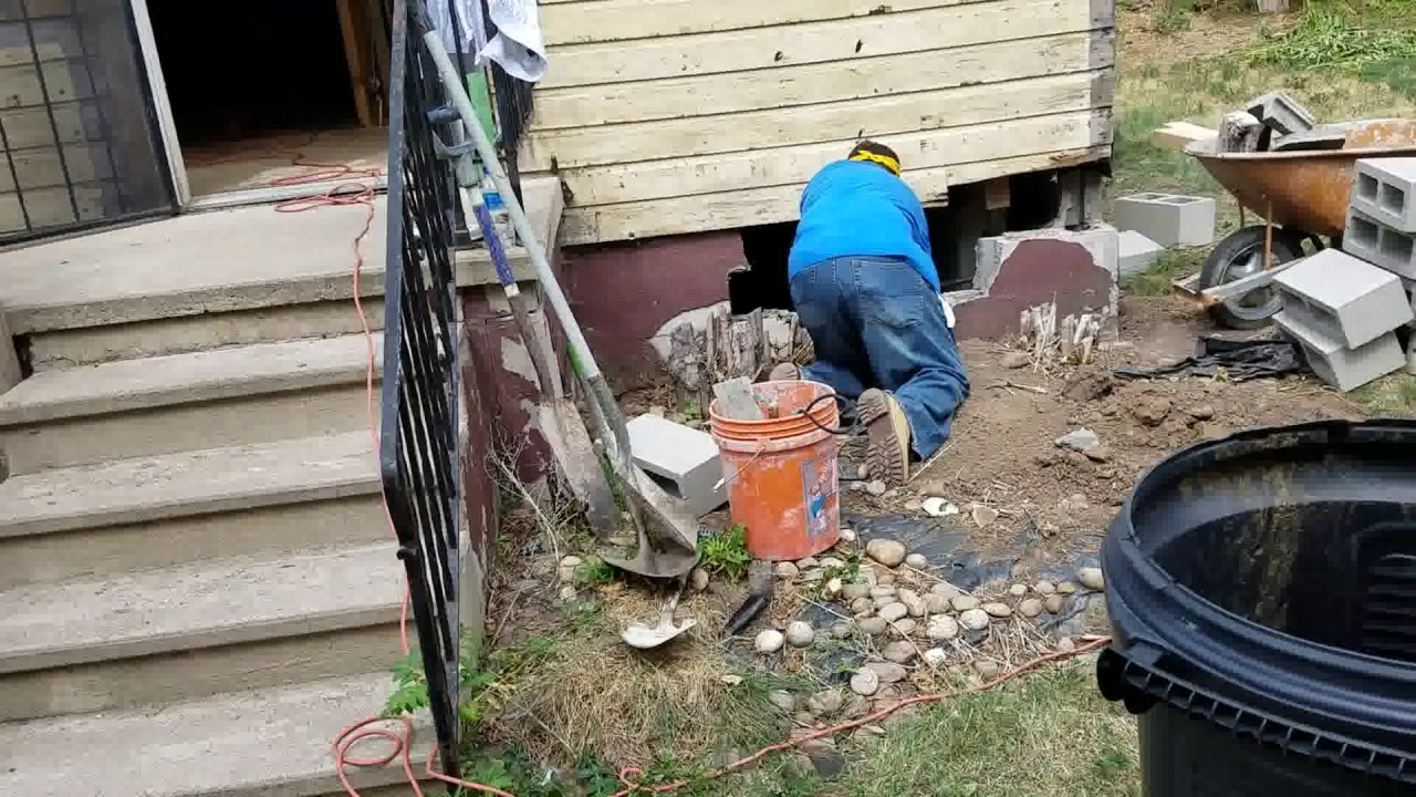 how to repair a damaged concrete wall
