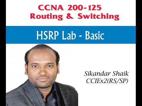 HSRP lab - Basic - Video By Sikandar Shaik || Dual CCIE (RS/SP) # 35012