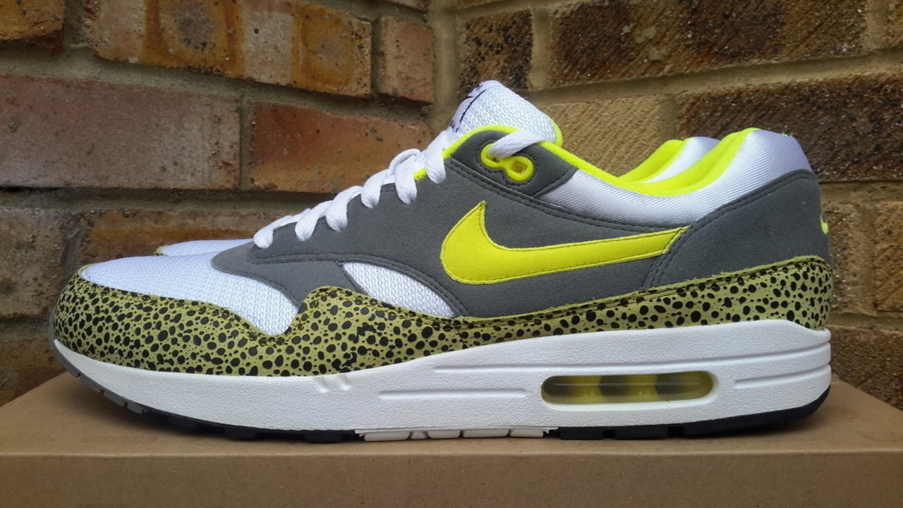Cortar sombra Restringido  Review: Nike Air Max 1 Yellow Safari (2009) - YouTube