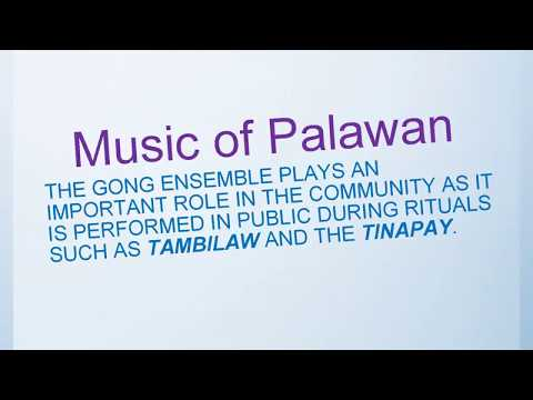 Music of Mindoro, Music of Palawan and Music of Visayas