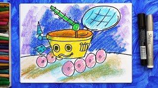 Как нарисовать Луноход, Урок рисования для детей