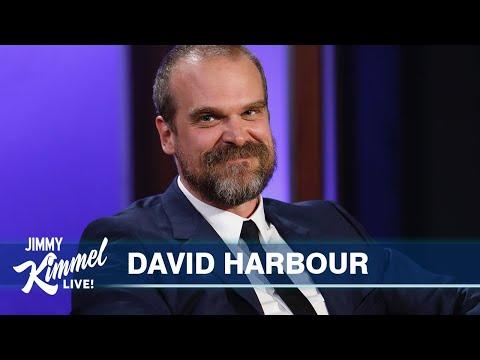 David Harbour on Stranger Things/Marvel Crossover Conspiracies, Black Widow & Vegas Pandemic Wedding