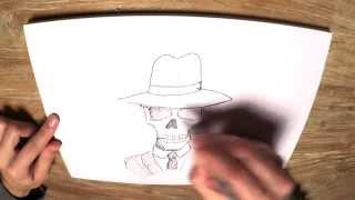 How to Draw Skulduggery Pleasant