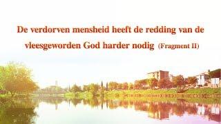 'De verdorven mensheid heeft de redding van de vleesgeworden God harder nodig' (Fragment II)