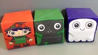 Halloween Origami Boxes - Witch, Cat, Ghost