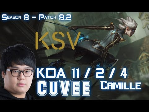 KSV CuVee CAMILLE vs FIORA Top - Patch 8.2 KR Ranked