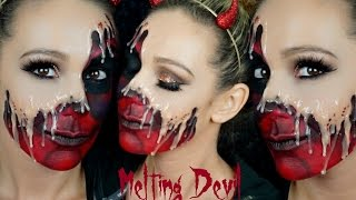 Melting Devil Halloween Makeup Tutorial  Hayley Spear