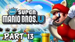 New Super Mario Bros. Wii U Walkthrough - Part 13 Freezing Rain Tower Let's Play WiiU Gameplay