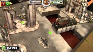 Necrons vs Chaos Space Marines Warhammer 40k Battle Report - Beat Matt Batrep Ep 34