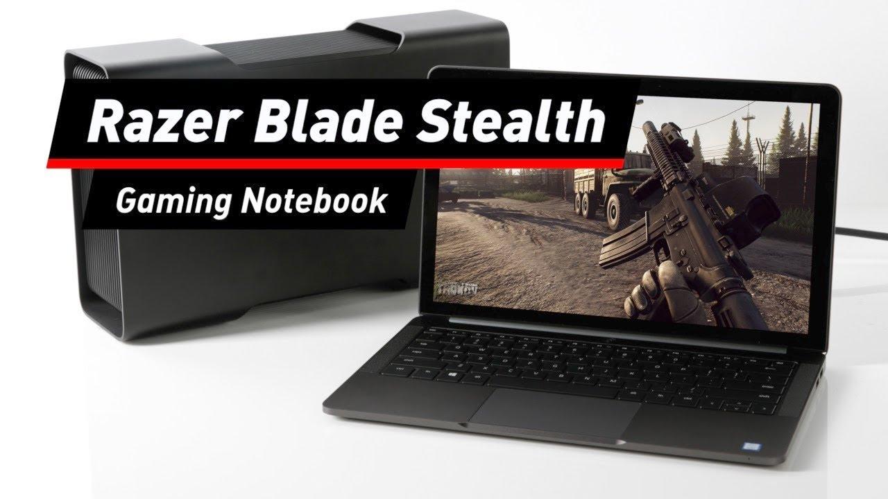 razer blade stealth notebook mit extra geh use f r grafikkarte youtube. Black Bedroom Furniture Sets. Home Design Ideas