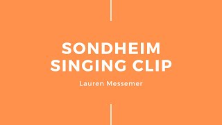 Sondheim Song Singing Clip – What More Do I Need