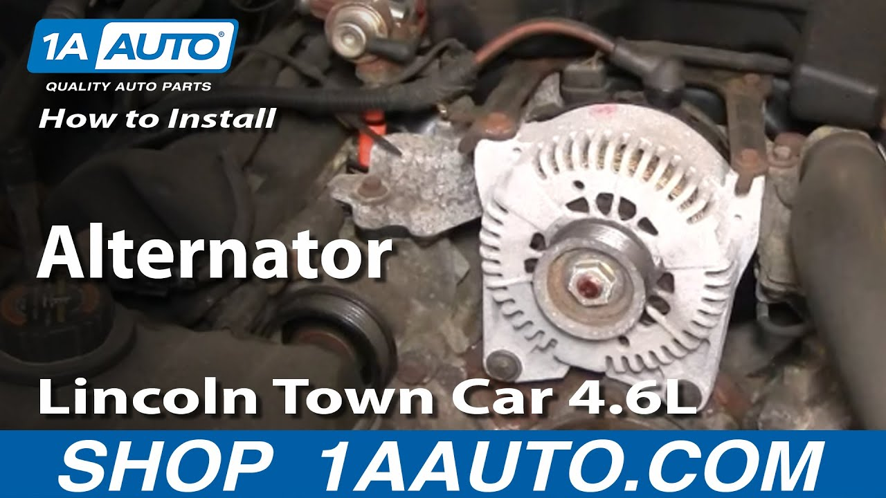 How To Install Repair Replace Alternator Lincoln Town Car 46l 98 02 2003 Ls Engine Diagram 1aautocom Youtube