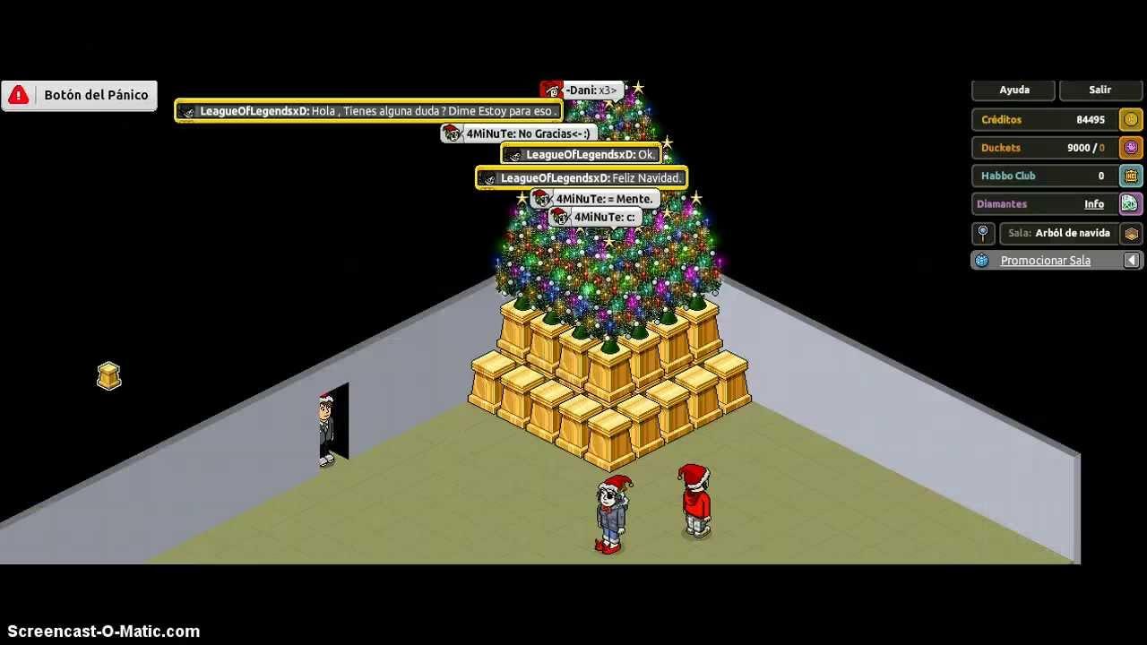 Como hacer un arb l de navidad facil habbo youtube - Como hacer un arbol de navidad ...