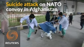Islamic State suicide bomb hits NATO convoy in Afghanistan