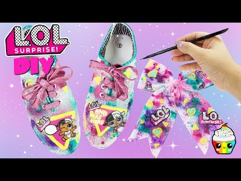 DIY LOL Surprise Shoes & Bow Baby Next Door New LOL House Doll