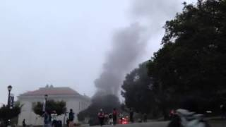 Footage of  UC Berkeley campus fire from Dwinelle Plaza