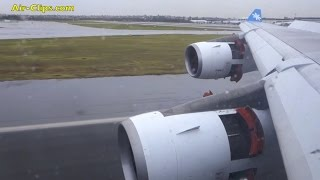 Airbus A340-300 severe storm landing into Sydney, GREAT wing views! [AirClips]