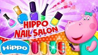 Гиппо 🌼 Маникюрный салон красоты 🌼 Игры для девочек 🌼 Мультик игра для детей (Hippo)