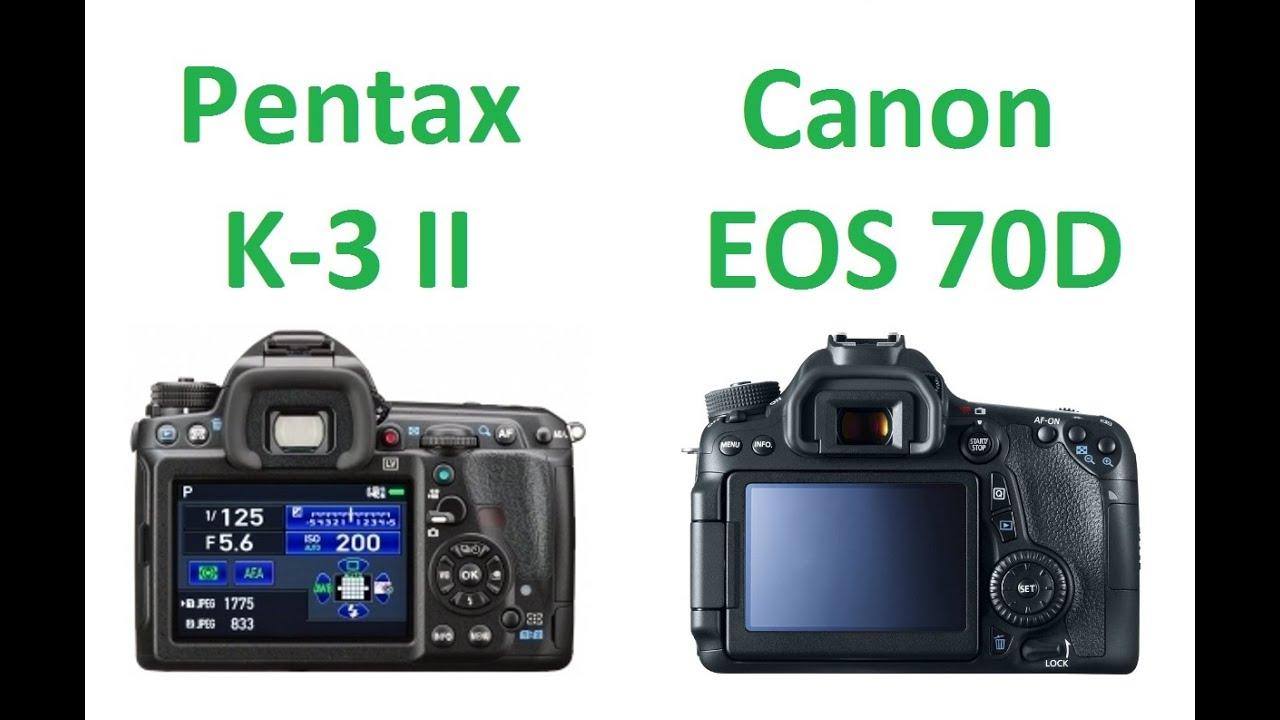 Pentax K-3 II vs Canon EOS 70D