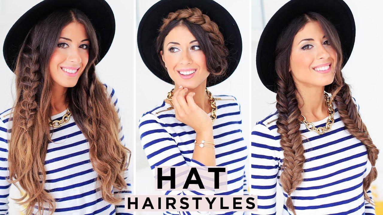 3 Cute Hat Hairstyles – Luxy Hair