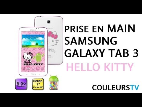 prise en main de la tablette samsung galaxy tab 3 hello kitty hd youtube